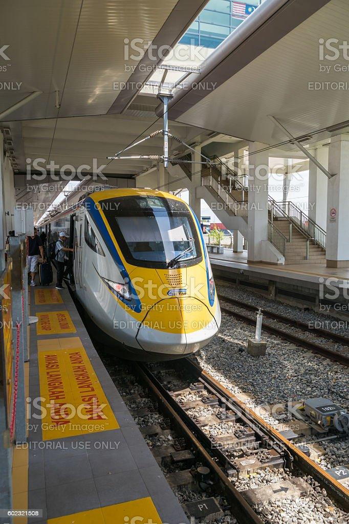 KTM ETS electric Train in Penang, Malaysia stock photo