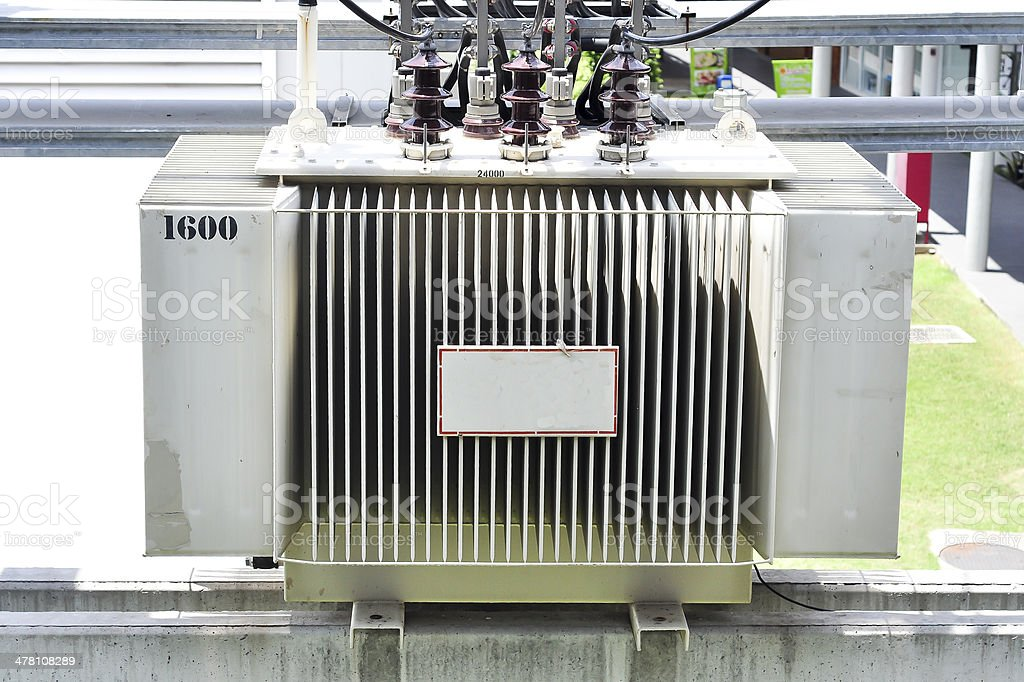 Electric transformer royalty-free stock photo