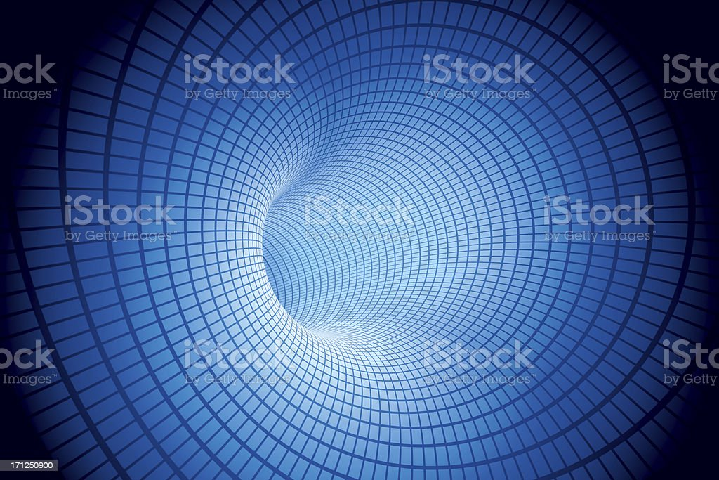 Electric Tunnel Blue Mesh Pattern stock photo