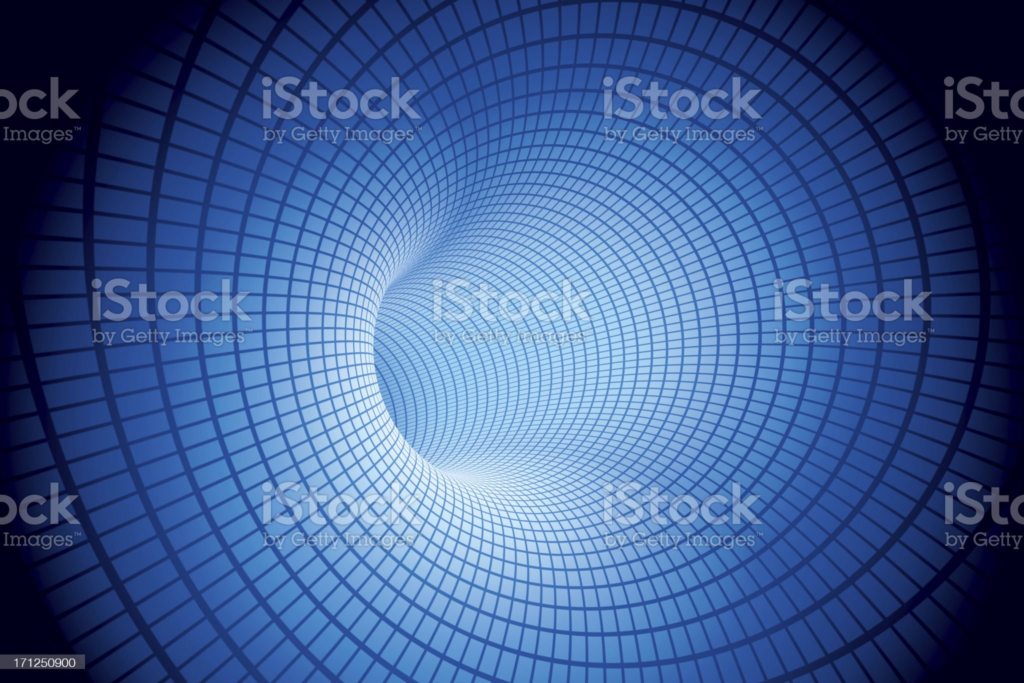 Electric Tunnel Blue Mesh Pattern royalty-free stock photo