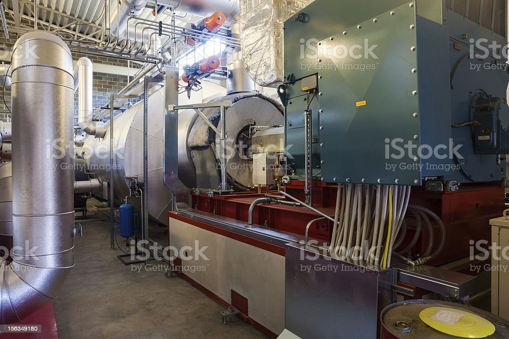 Electric turbogenerator royalty-free stock photo