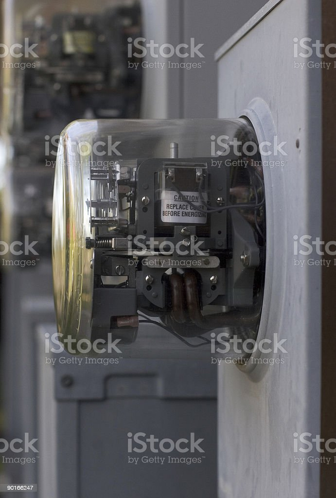 Electric utility meter 2 stock photo