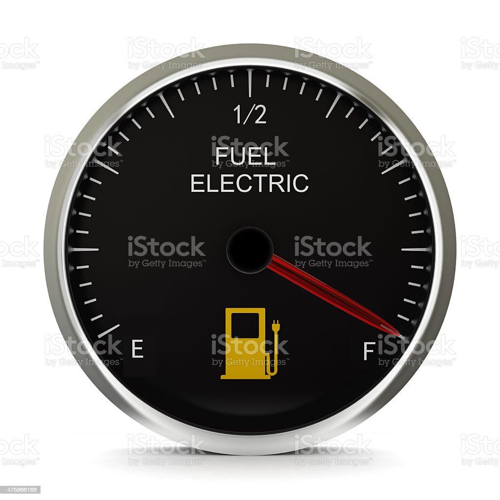 Electric Vehicle Battery Gauge stock photo