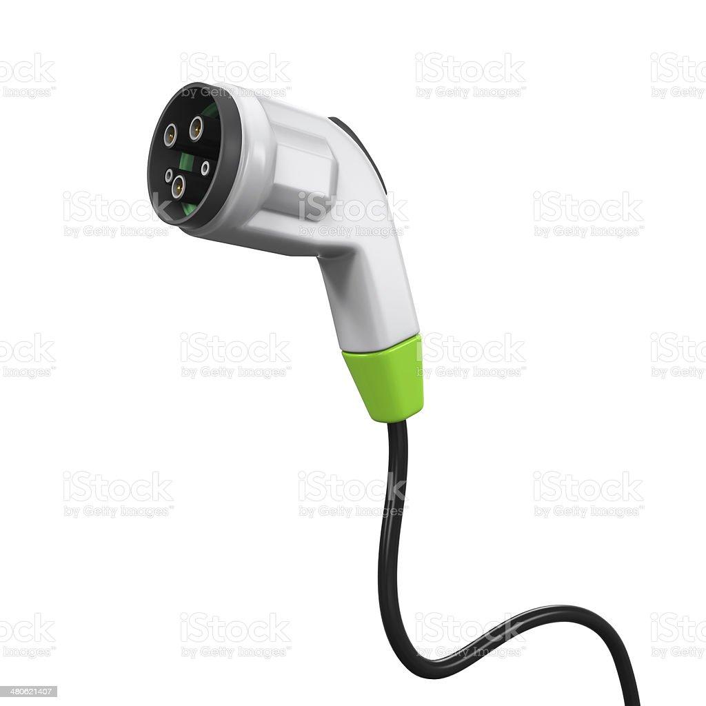 Electric Vehicle Charging Plug stock photo