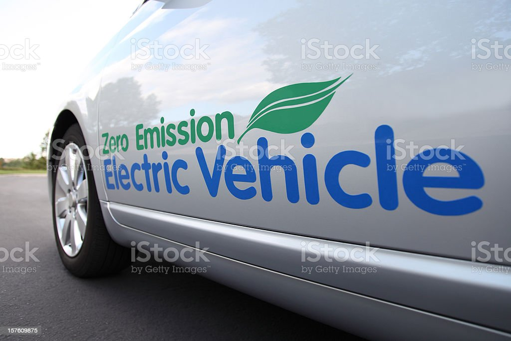 Electric Vehicle Close Up stock photo