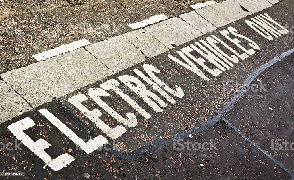Electric Vehicle Parking Space royalty-free stock photo