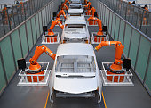Electric vehicles body assembly line