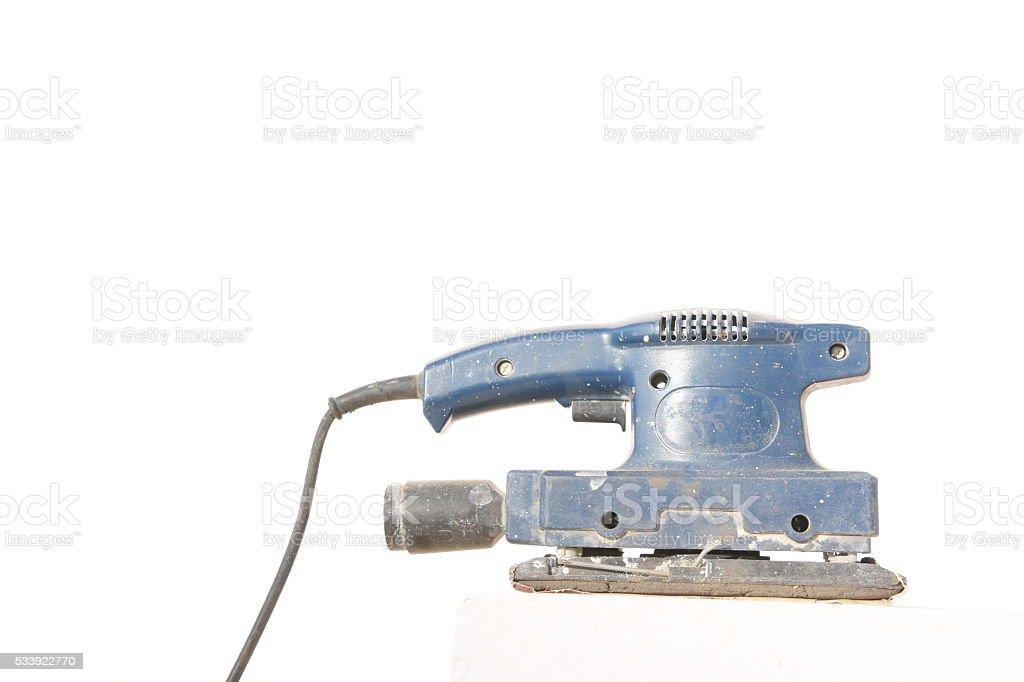 Electric vibration sanding paper machine stock photo