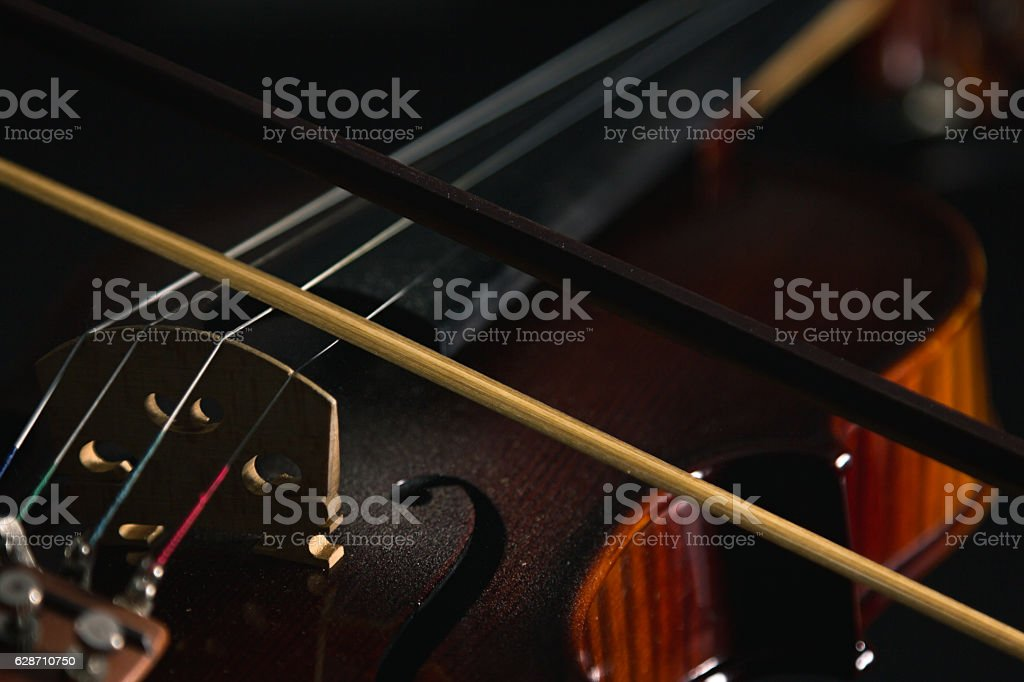 Electric violin isolated stock photo