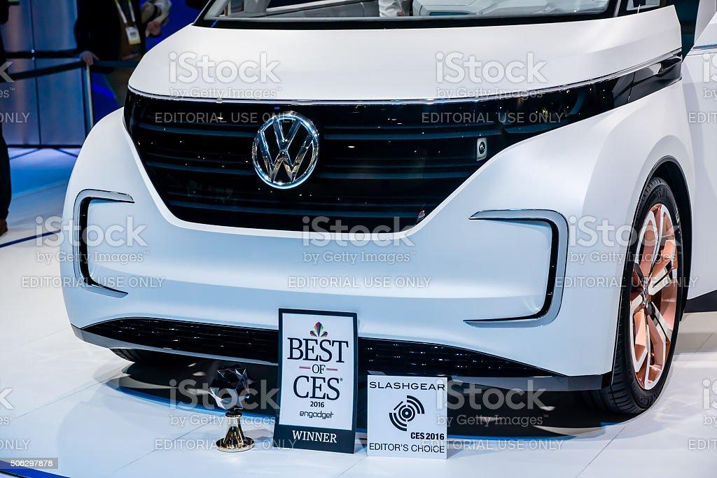 Electric VW Wagon stock photo