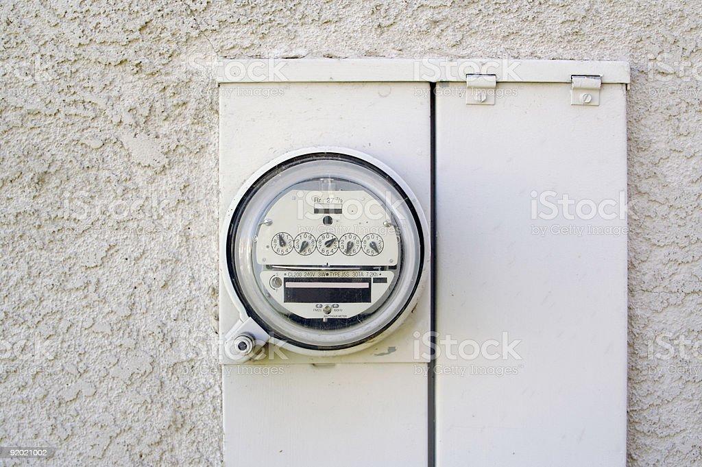 Electric Watt-hour Meter royalty-free stock photo