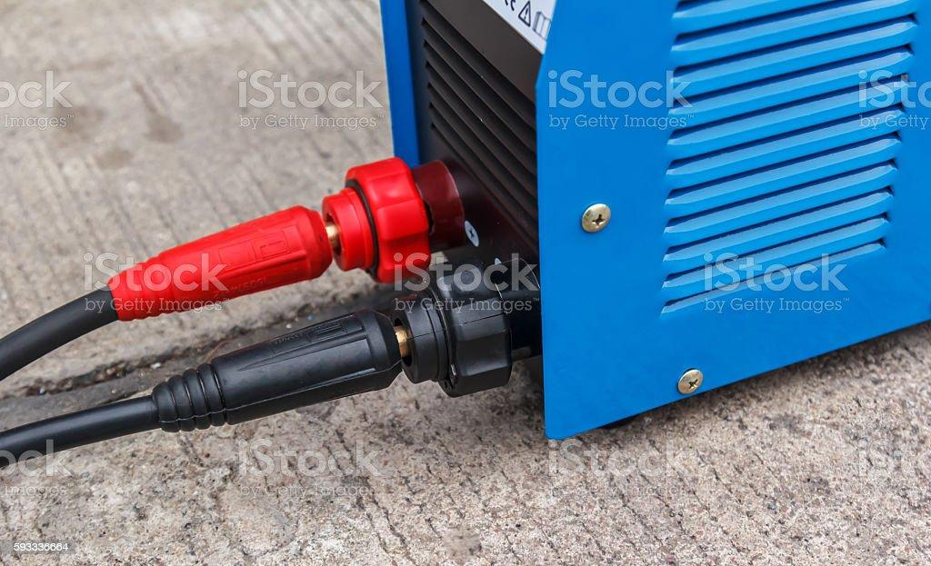 electric welding machine stock photo