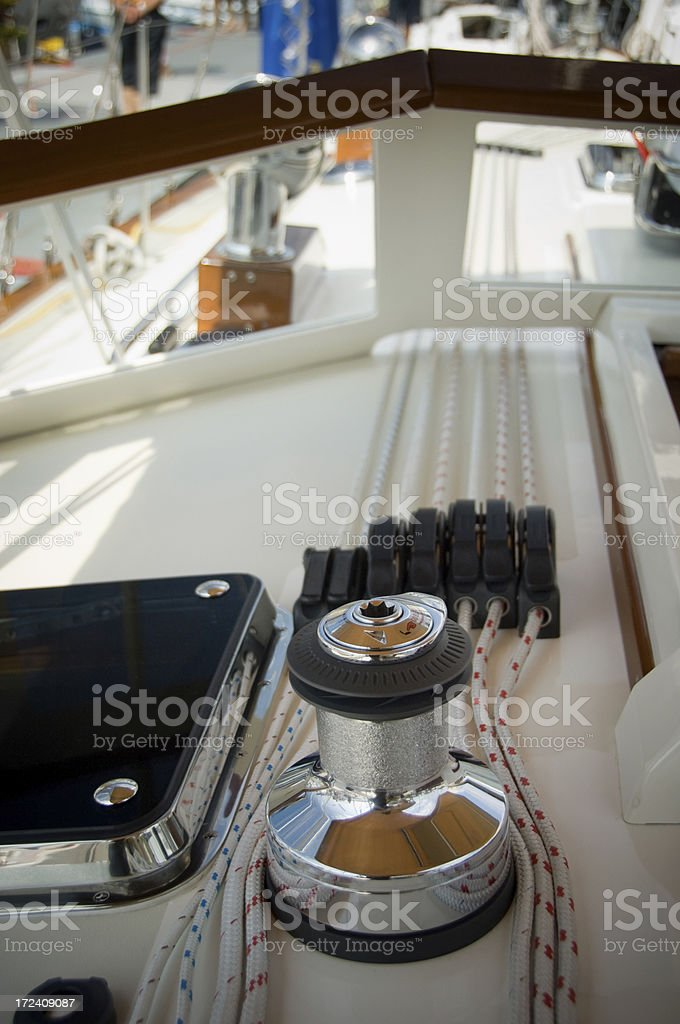 Electric winch stock photo