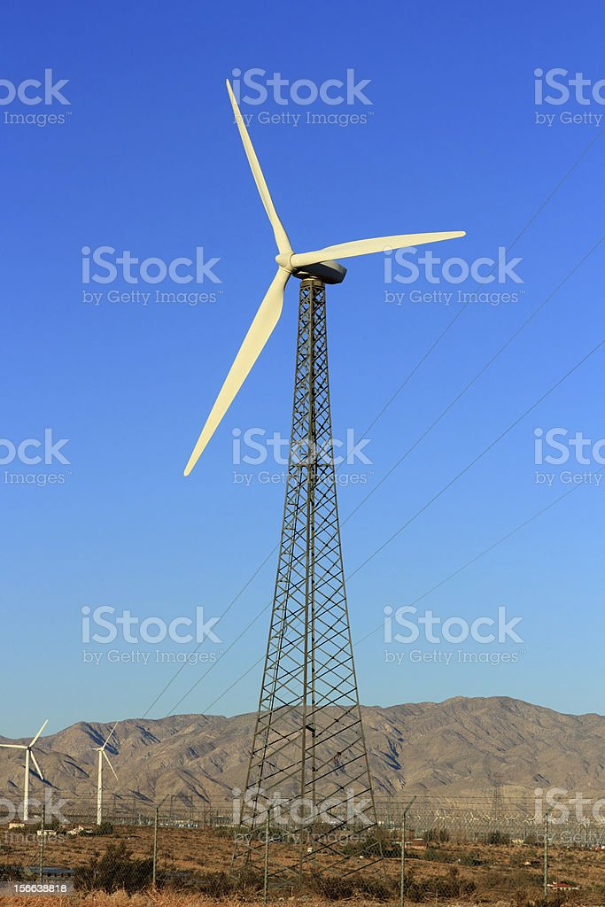 Electric Wind Mill royalty-free stock photo