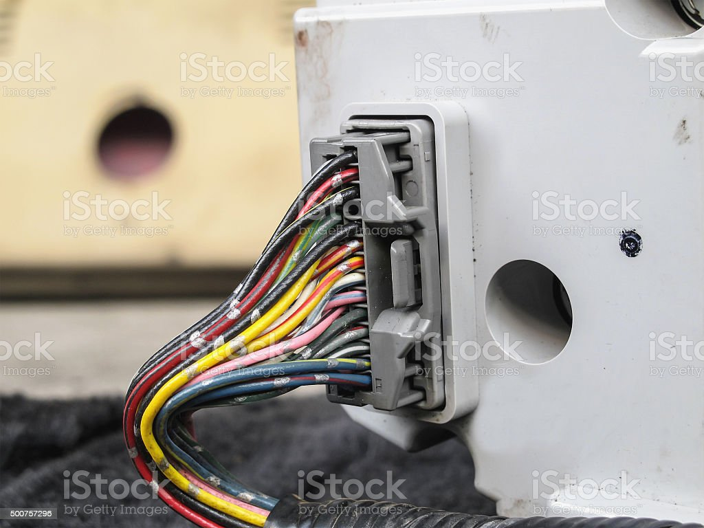 Electric wiring stock photo