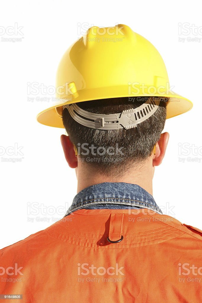 Electric Worker Back royalty-free stock photo
