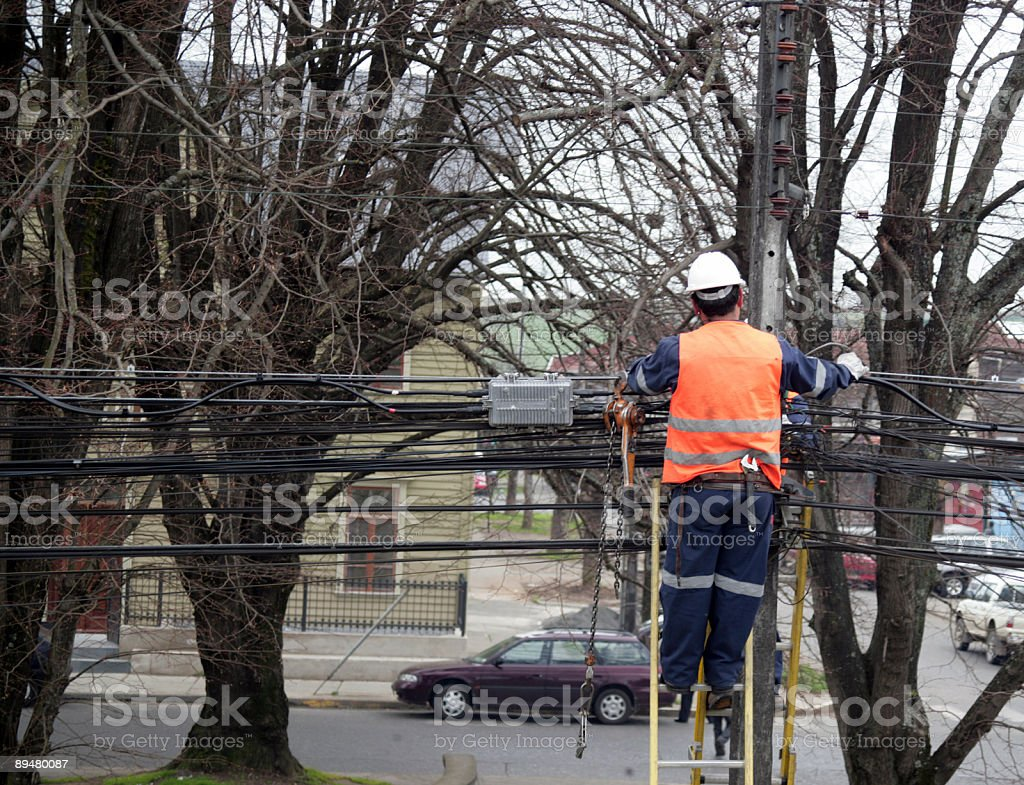Electric Worker royalty-free stock photo