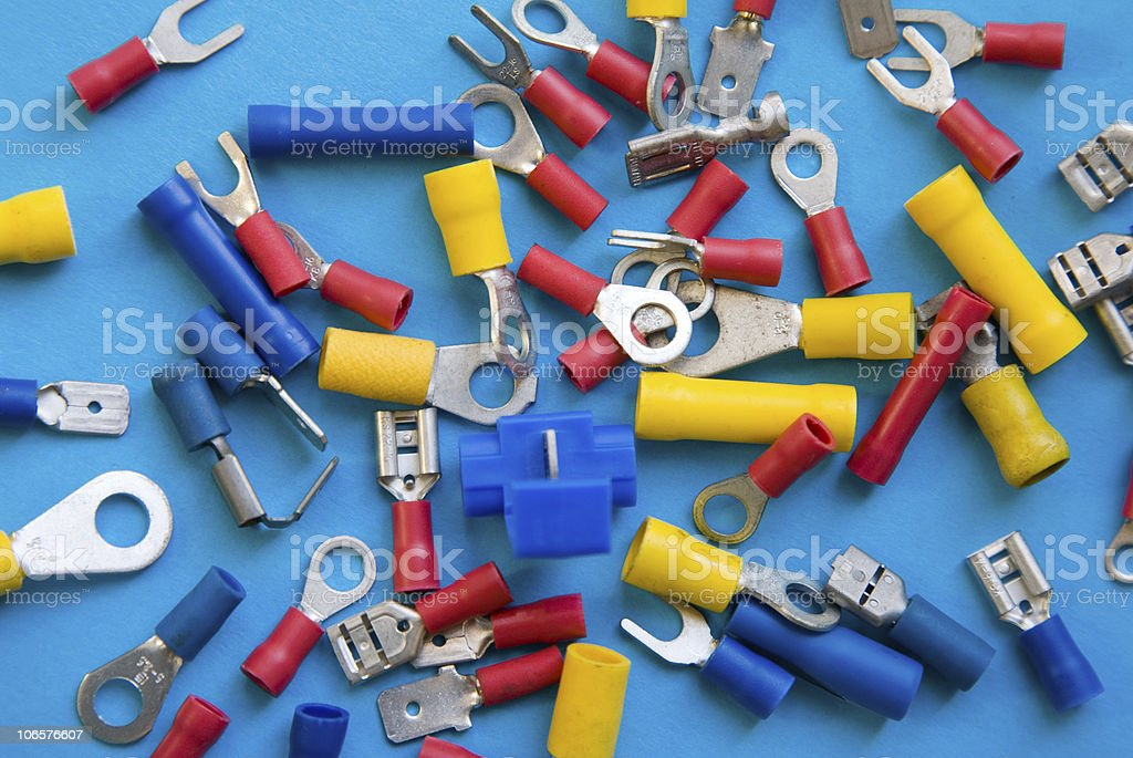 Electrical and Electronics Crimp Connectors stock photo
