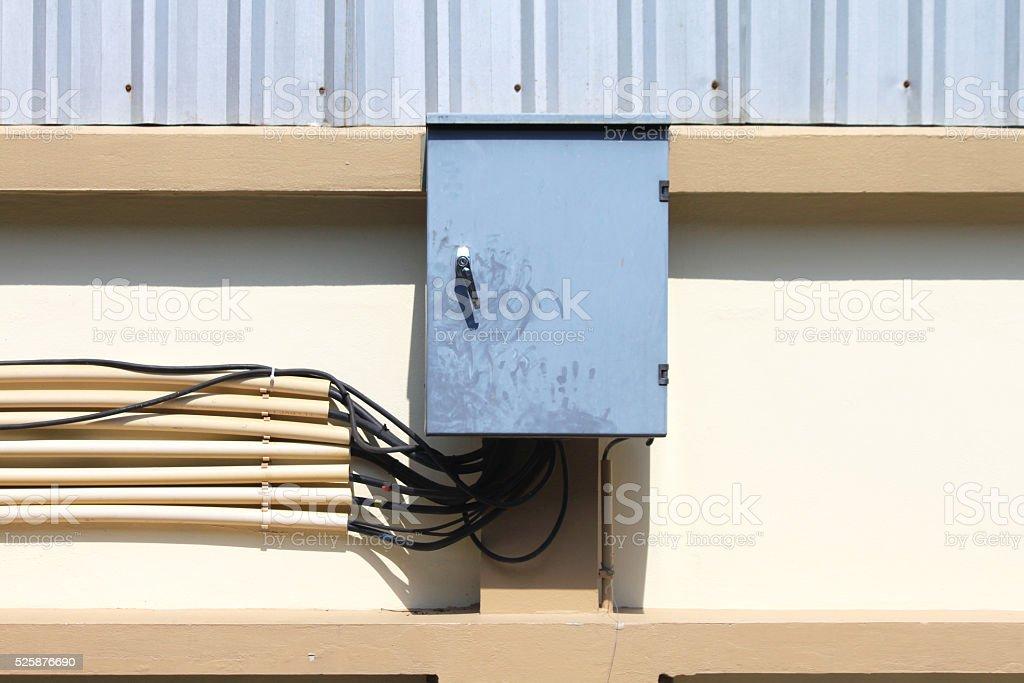 Electrical box cutouts stock photo