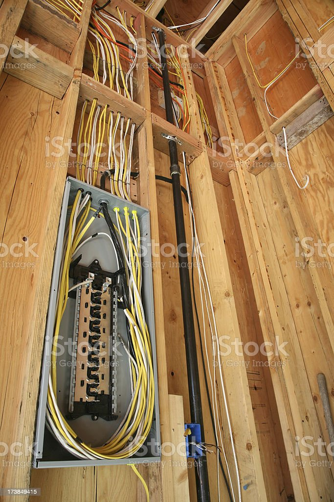 Electrical Circuit Switch Construction stock photo
