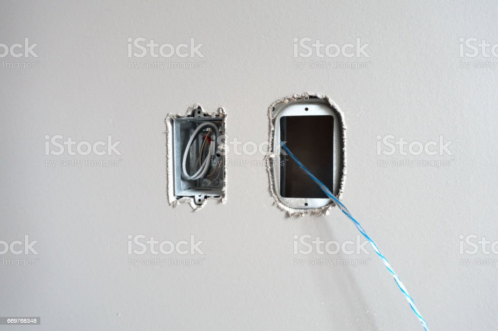 Electrical Conduit Fishing String stock photo