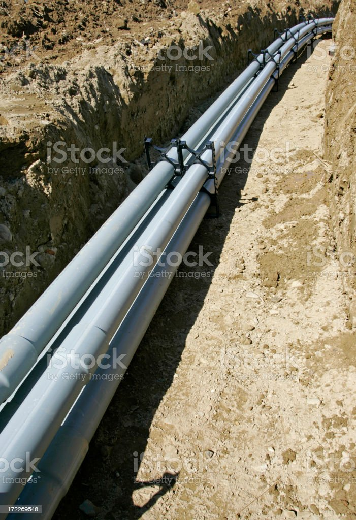 Electrical Conduit Pipes stock photo