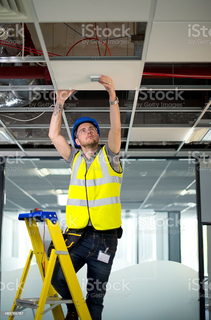 electrical contractor royalty-free stock photo