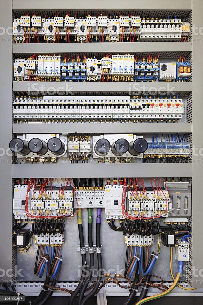 Electrical control panel royalty-free stock photo