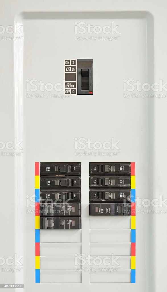 Electrical control panels stock photo