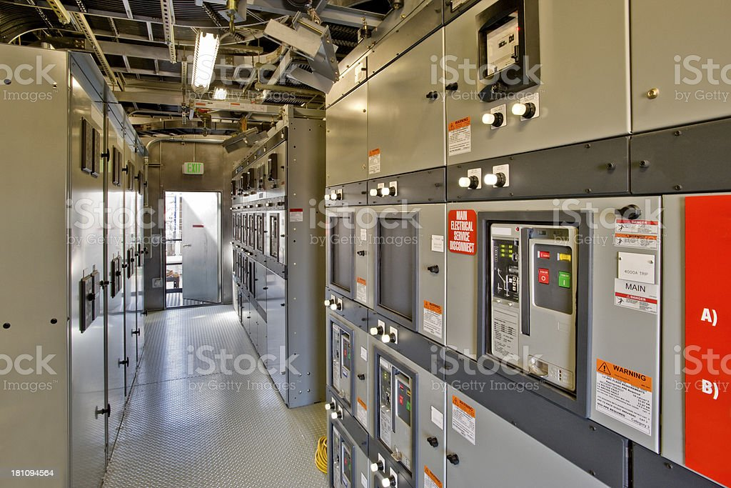 Electrical Control Room stock photo