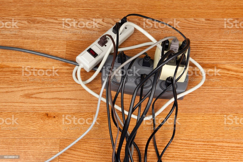 Electrical Cord Overload royalty-free stock photo