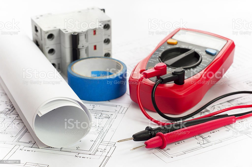 Electrical devices stock photo