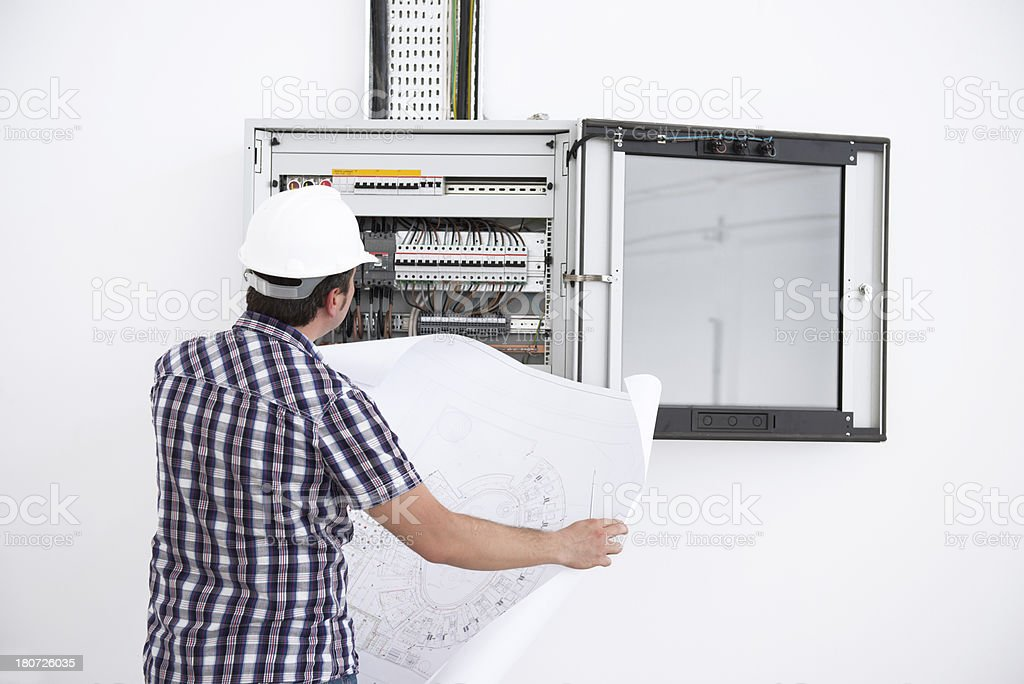 electrical engineer royalty-free stock photo