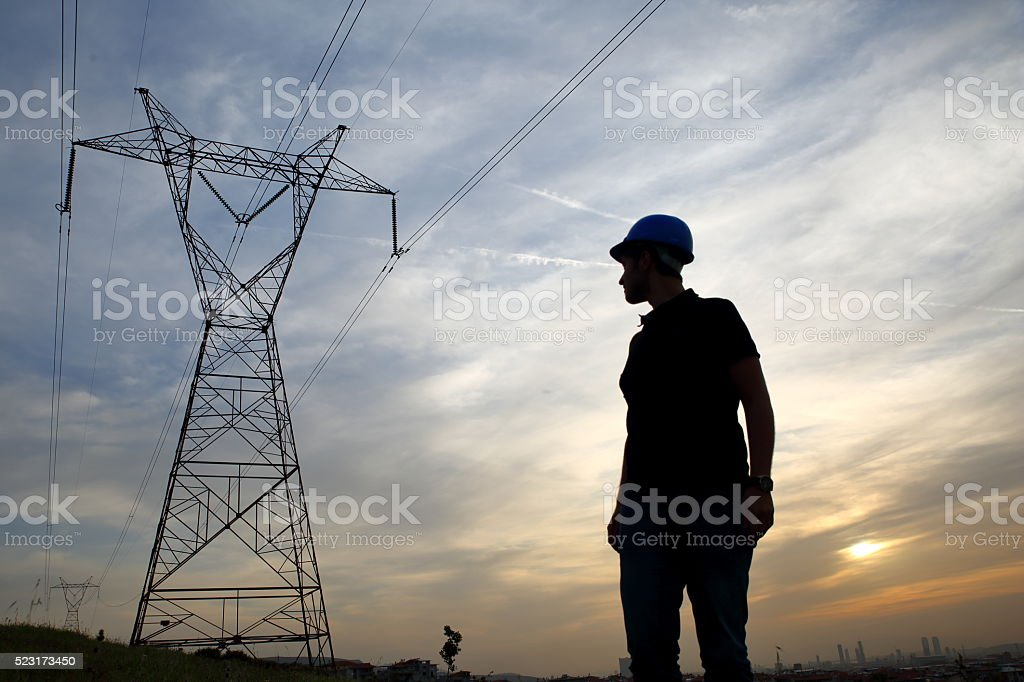 Electrical engineer stock photo