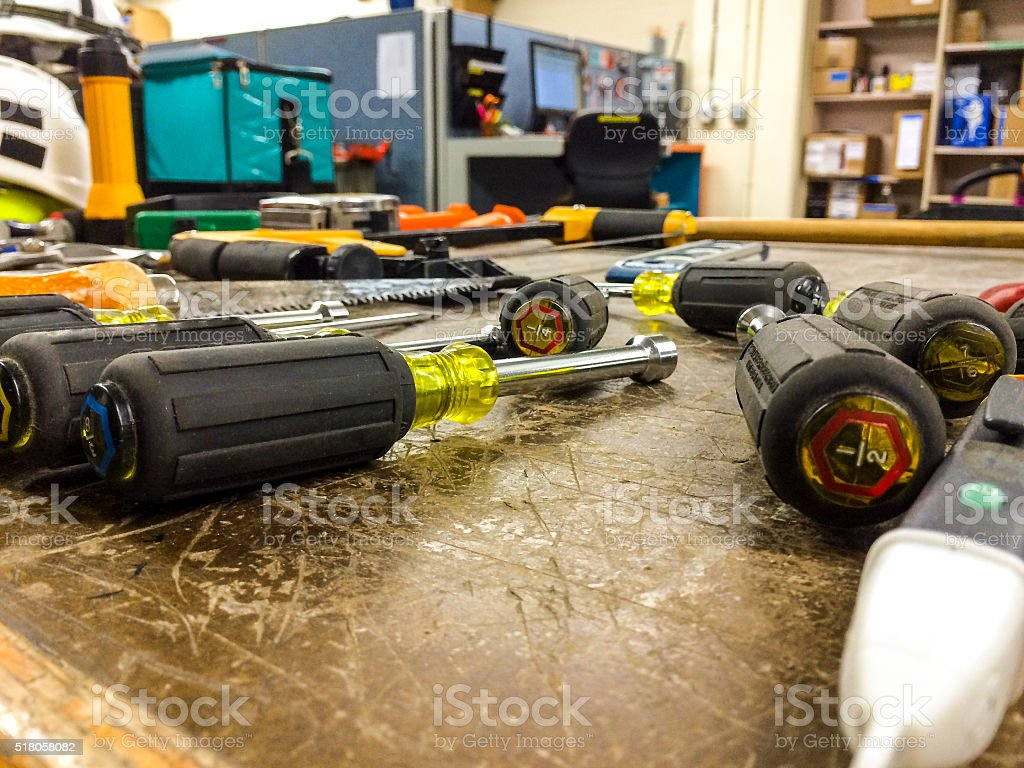Electrical hand tools stock photo
