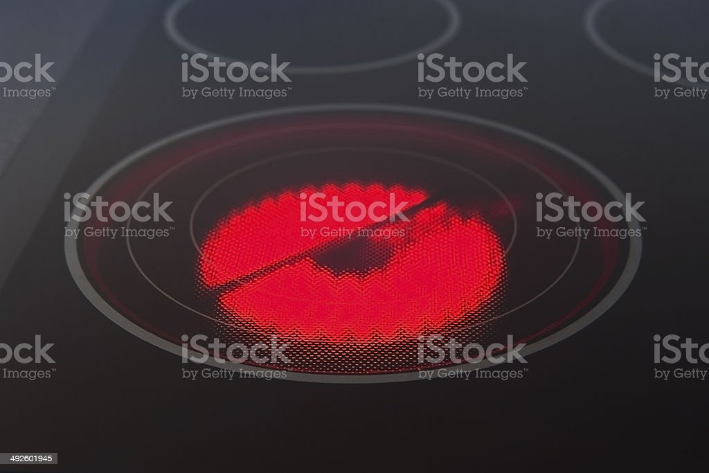 Electrical hob stock photo