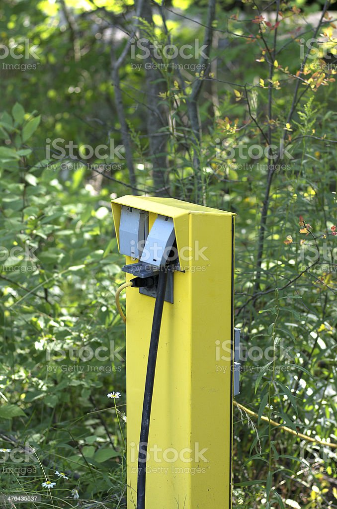 Electrical Hookup at Campsite royalty-free stock photo