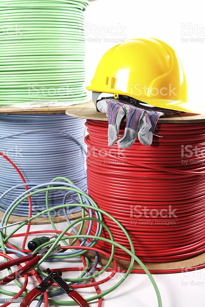 Electrical installation stock photo