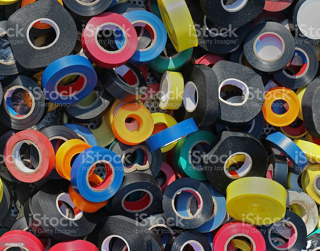 Electrical insulating tape stock photo