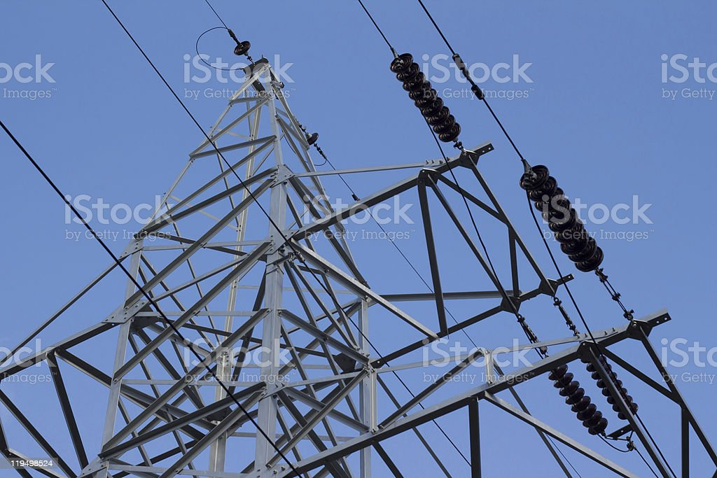 Electrical line stock photo