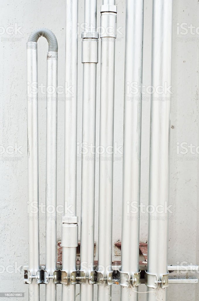 Electrical line pipe. royalty-free stock photo