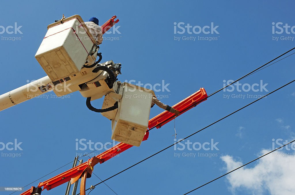 Electrical maintenance royalty-free stock photo
