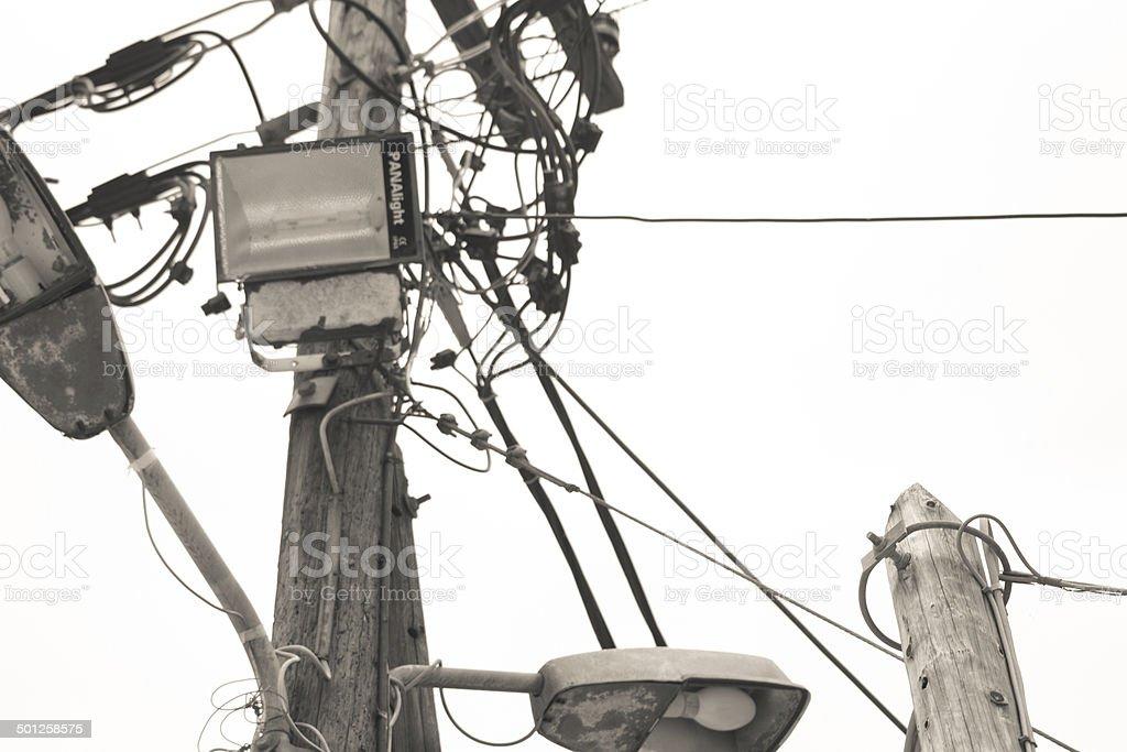 Electrical Mayhem stock photo