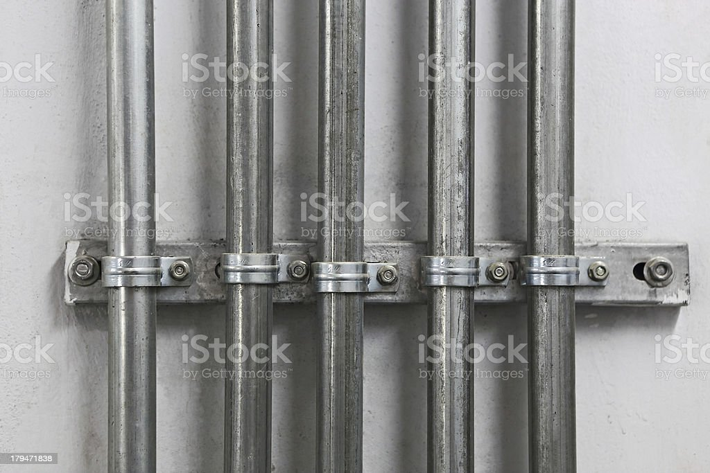 Electrical Metal Conduit Pipes stock photo