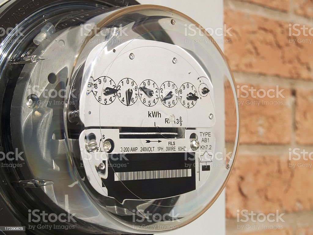 Electrical Meter stock photo