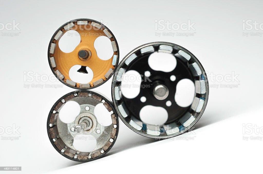 Electrical motors stock photo