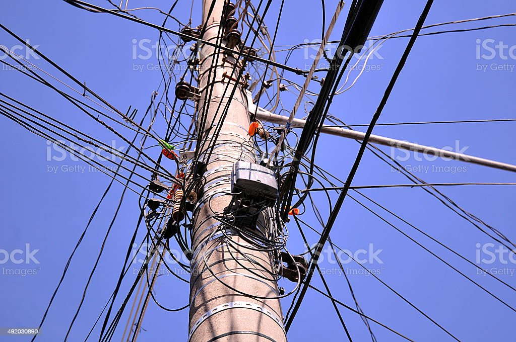 Electrical network stock photo