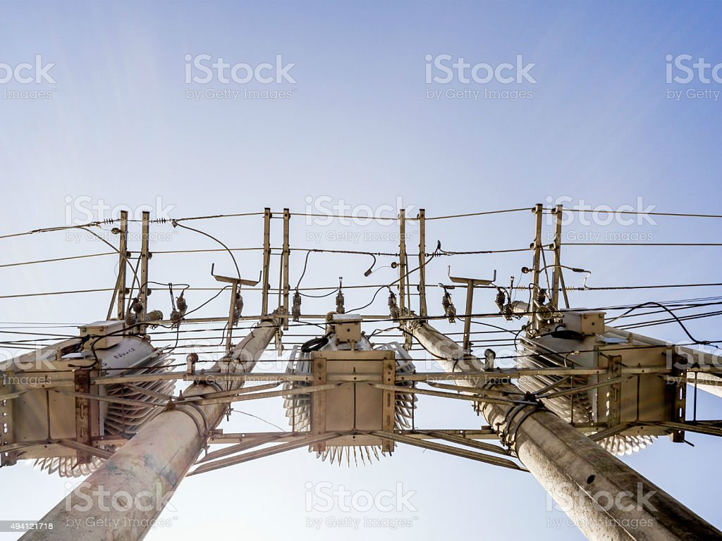 Electrical network royalty-free stock photo