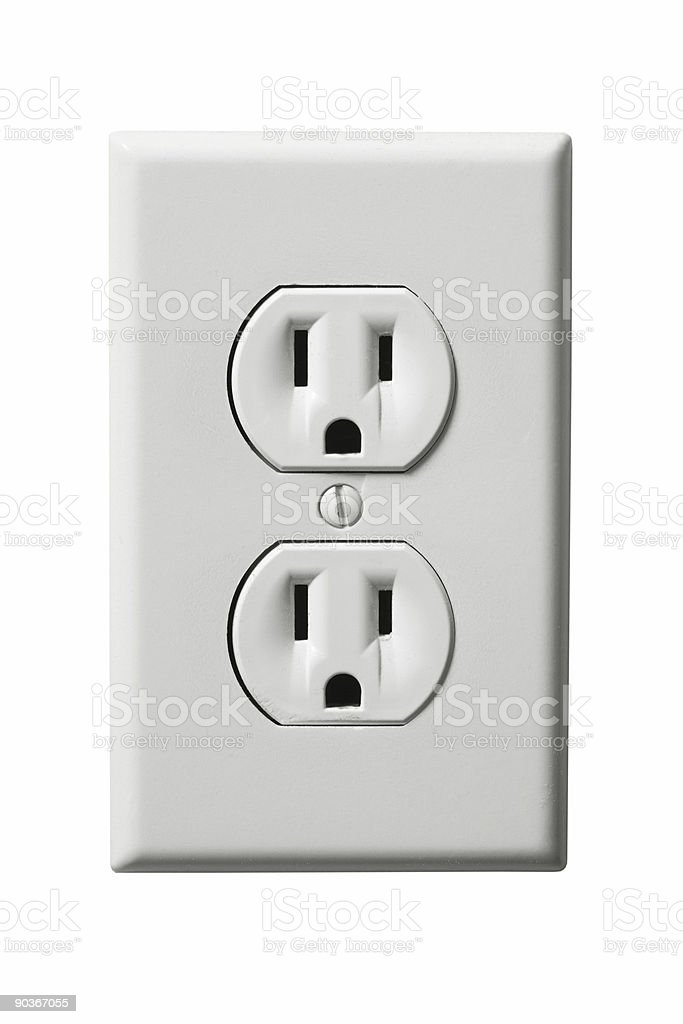Electrical Outlet (Isolated) stock photo