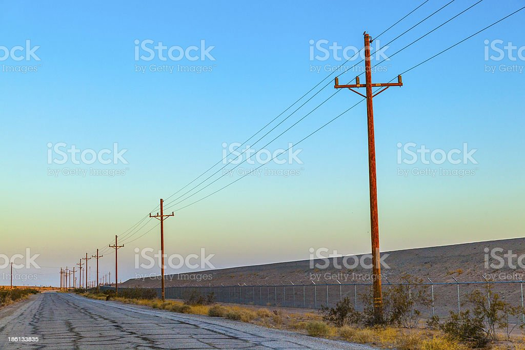 electrical overland line royalty-free stock photo